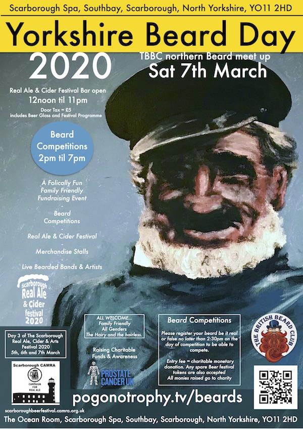 Yorkshire Beard Day 2020 - Saturday 7th March 2020 - Scarborough Spa, Southbay, Scarborough, YO112HD