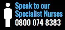Speak to Prostate cancer uk nurses telephone 0800 074 8383