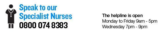 Speak to specialist nurses prostate cancer uk 0800 074 8383 Monday - Friday 9am - 5pm Wednesday 7pm - 9pm