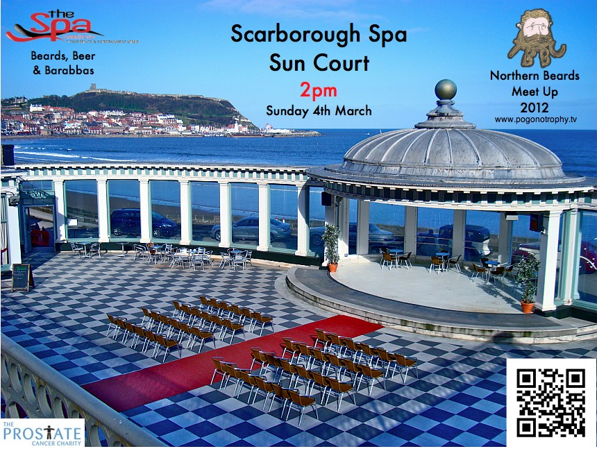 Scarborough Spa Sun Court is the afternoon Venue for TBBC Northern beards meet up and Friendly Beard Competition