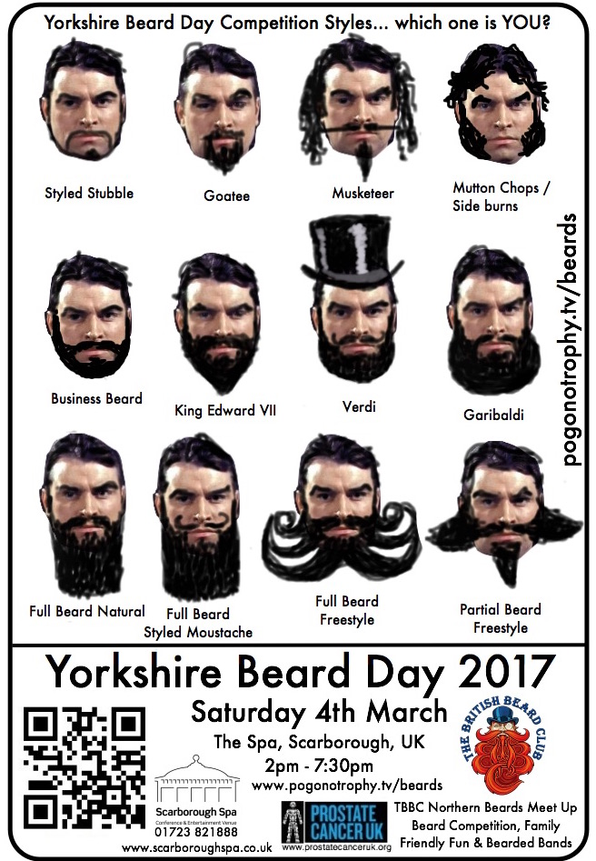 Fantastic Competition Beard Style Guide Yorkshire Beard Day 2017 Short Hairstyles For Black Women Fulllsitofus