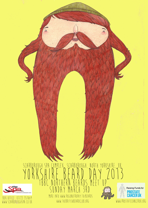 David Litchfield has created the character Beardy McBeard and designed the poster for this years Yorkshire Beard Day 2013. Find out more about David here http://www.davidlitchfieldillustration.com