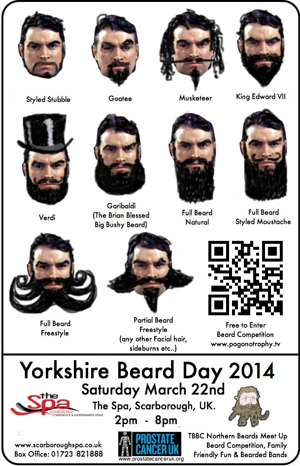 Yorkshire Beard Day TBBC competition styles 2014
