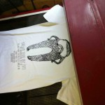 Yorkshire Beard Day T-Shirts screen printing dryer | Artwork created by David Litchfield http://davidlitchfieldillustration.com