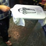 Yorkshire Beard Day T-Shirts screen printing carousel | Artwork created by David Litchfield http://davidlitchfieldillustration.com