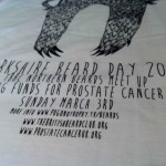 Yorkshire Beard Day 2013 T-shirt printing - close up | Artwork created by David Litchfield http://davidlitchfieldillustration.com