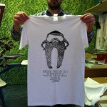 Yorkshire Beard Day 2013 T-shirt printing - finished t-shirt | Artwork created by David Litchfield http://davidlitchfieldillustration.com