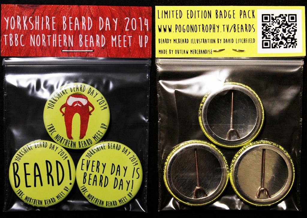 Yorkshire Beard Day 2014 Limited Edition Beard Badges