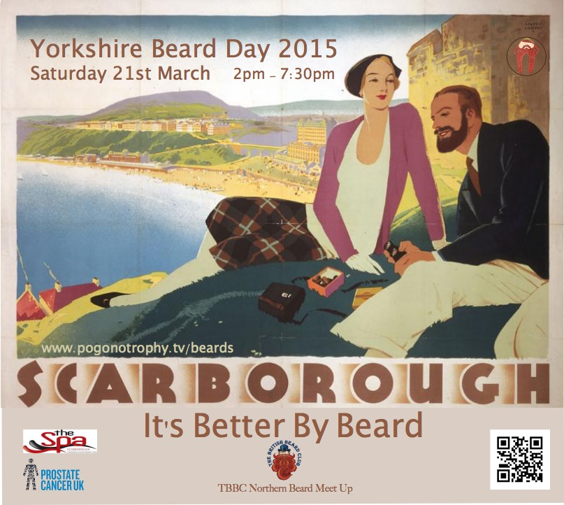 Scarborough - It's better by beard - Yorkshire Beard Day 2015 - nostalgia poster