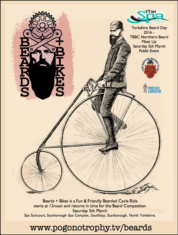 Beards+bikes is a Beard friendly Bike Ride around the Borough of Scarborough - Part of Yorkshire Beard Day 2016 - TBBC Northern Beard Meet Up Saturday 5th March