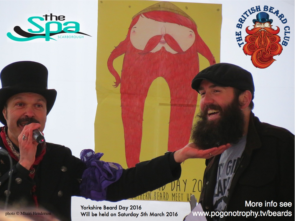 Our compère Captain of The Lost Waves will be one of the panel of beard judges appraising your Yorkshire Beards.