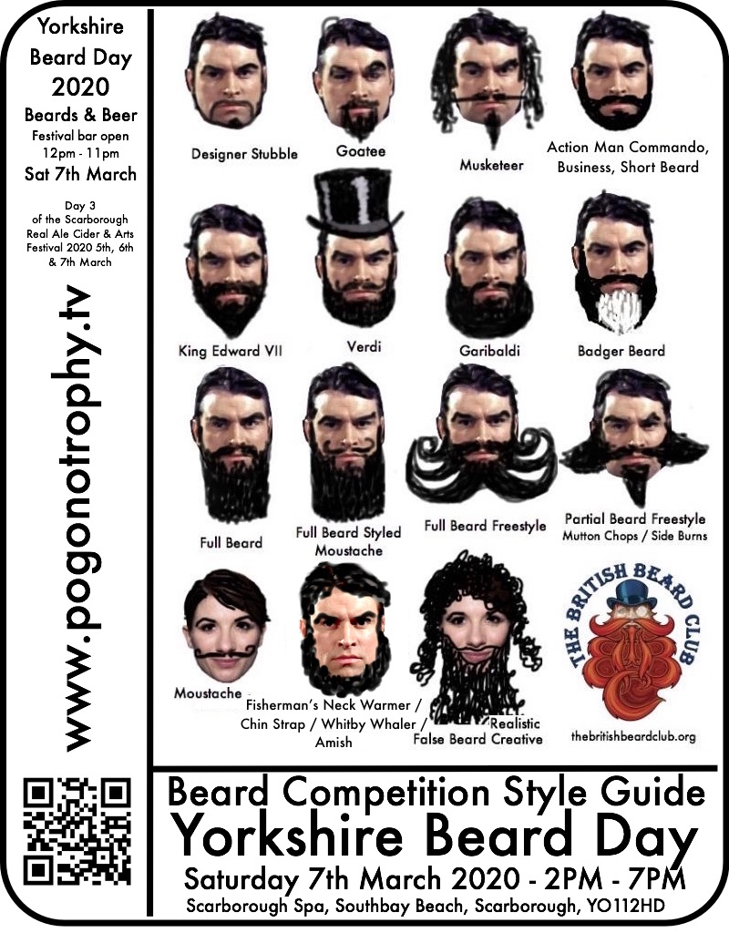 Yorkshire Beard Day 2020 Sat 7th March Beard Competition Style Guide