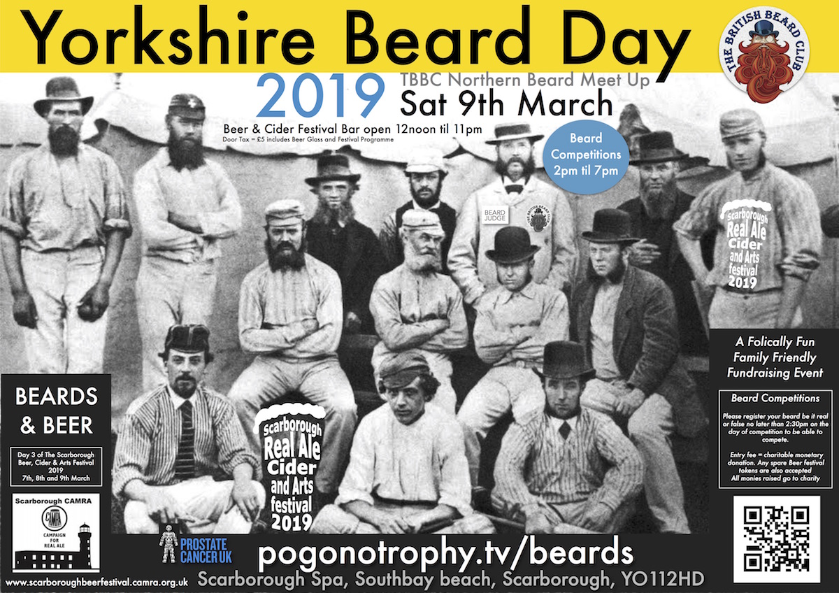 Yorkshire Beard Day 2019 - TBBC Northern Beard Meet Up - Saturday 9th March 2019 - Scarborough Spa, Southbay, Scarborough, YO11 2HD